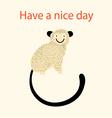 beautiful cheerful monkeys vector image