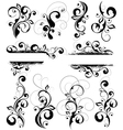 black and white flourishes vector image
