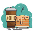 coffet time design vector image