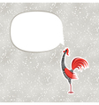 decorative rooster with hand drawn ornamental body vector image
