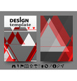 design templates with geometric vector image