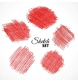 Sketch textures collection vector image