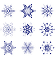 vector snowflakes vector image