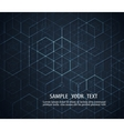 Dark abstract background Geometric design vector image