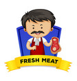 Wordcard with word fresh meat vector image