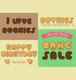 inscriptions by sweet cookies font vector image