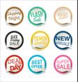 modern bubble speech sticker collection 1 vector image