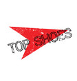 top shoes rubber stamp vector image vector image