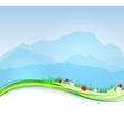 spring Mont Blanc background vector image