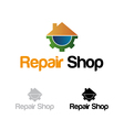 Repair shop logo vector image vector image
