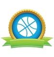 Gold basketball logo vector image