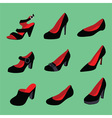 Women shoes collection vector image vector image