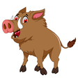 wild boar cartoon for you design vector image vector image