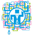 conceptual picture save the water vector image
