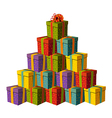Gift boxes fo vector image