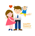 happy family with smile and joyful vector image
