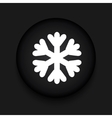 modern snowflake black circle icon vector image