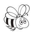 monochrome of cute bee vector image
