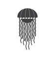 sea jellyfish icon vector image