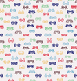 seamless pattern with colorful-retro-glasses vector image