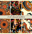 set damask pattern vector image
