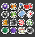 set of gaming and gambling equipment vector image