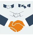 Symbol set handshake vector image