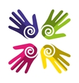hands human diversity colors icon vector image