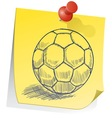 doodle sticky note soccer football vector image vector image