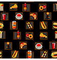 scarry fast food pattern vector image vector image
