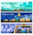 Taxi service banners vector image vector image