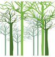 silhouette with trees without leafs close up vector image