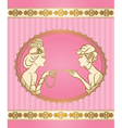 Vintage ladies card vector image