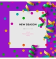 New season invitation template with party confetti vector image vector image