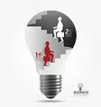 businessman up the Ladder paper light bulb vector image vector image