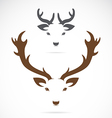 image of an deer head vector image vector image