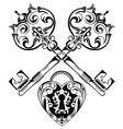 Tattoo Design of Lock ands Key vector image