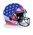 American Football Helmet with American Flag vector image vector image