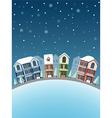 Cityscape winter3 vector image
