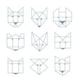 geometric animals vector image