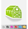 realistic design element barn vector image
