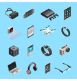 Isometric Icons Set Of Gadgets vector image