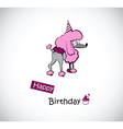 happy Birthday poodle vector image vector image