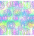 Endless background of colorful abstract flowers vector image