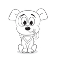 Cartoon dog vector image