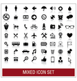 Mixed icon set vector image vector image