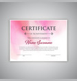 watercolour certificate background vector image vector image