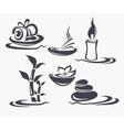 spa symbols vector image vector image