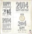 New Year symbols vector image