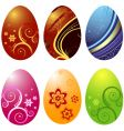 easters eggs vector image vector image